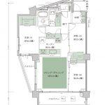 シティハウス神宮北参道 6 /7 タイプ80G-1 type 間取り3LD・K+N+2WIC 専有面積76.12m2 バルコニー面積17.18m2