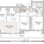 クリオ横濱サザンマークス【第3期2次】A type 間取り