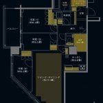 (仮称)三鷹駅直結タワープロジェクト C2タイプ 間取り