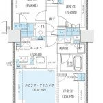 プライムパークス品川シーサイドザ・タワー  type Ea 間取り