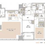 ザ・パークハウス 白金二丁目タワー  type 105A【MENU-1】間取り