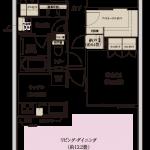Brillia City 三鷹(ブリリアシティ三鷹) C-75D type 間取り