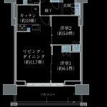 プラウドタワー名古屋丸の内 E【セレクトプラン.2】間取り