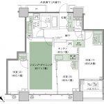 シティタワー武蔵小山 タイプT-J 間取り