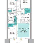 (仮称)南船橋駅前プロジェクト タイプF2 間取り