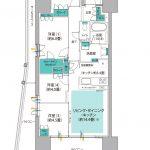 (仮称)南船橋駅前プロジェクト タイプI 間取り